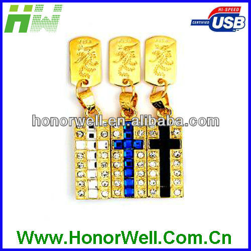 High Collection Diamond Cross Usb Memory Stick With Luxury Packing For Personal Gift