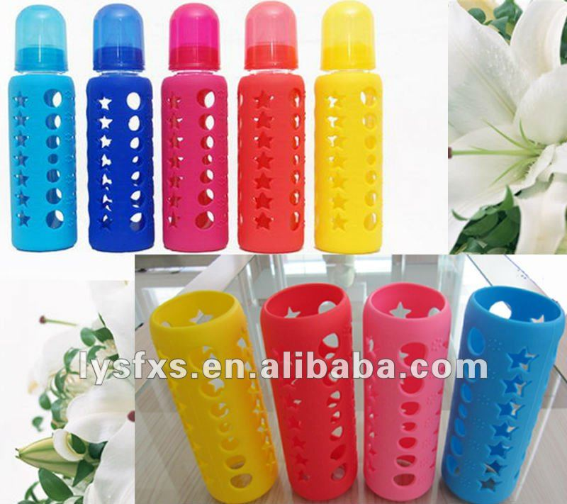High quality silicone Baby feeding bottle warmer/nursing cover/sleeve SF-P-06