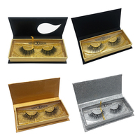 custom empty paper sleeve eyelash packaging box with lashes vendor