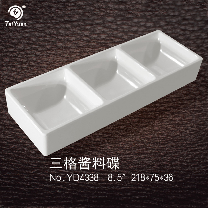 Wholesale China Factory Three section melamine dishes