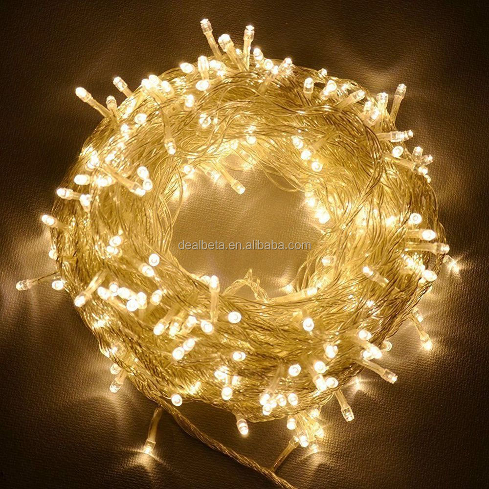 30 Meter Warm White 300 LED Outdoor & Indoor Battery Fairy Lights w/ Remote & Timer,Waterproof (8 Modes, Dimmable)