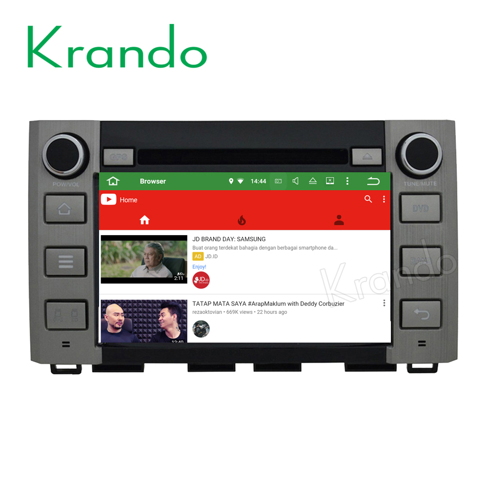 Krando Android 7.1 car radio gps for toyota tundra Sequoia 2014 2015 2016 dvd navigation 2+16G wifi 4g KD-TT884