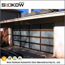aluminum and glass home garage automated door