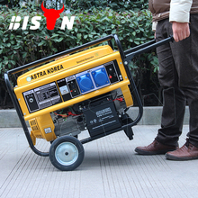 Bison China CE Approved Single Phase Electirc Start Hot 6KW 15hp Cam Professional Gasoline Generator