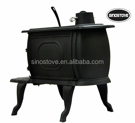 Antique design cast iron log wood stove