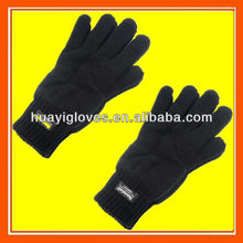 Black Thinsulate Thermal Lined Winter Gloves
