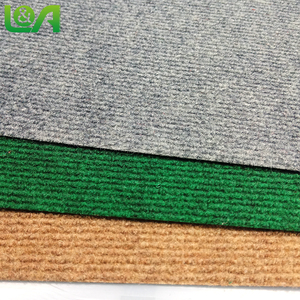 Ribbed high quality outdoor walkway red carpet floral commercial carpet red eco-friendly carpet