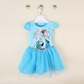Summer new cartoon princess dress Elsa Anna birthday party tutu dress