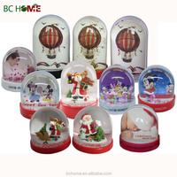 Picture insert snow globe,LED snow globe,Photo plastic snow globe