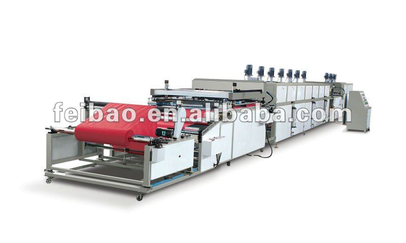 (2 colors)Roll to Roll Non Woven Automatic Fabric Printing Machine rb