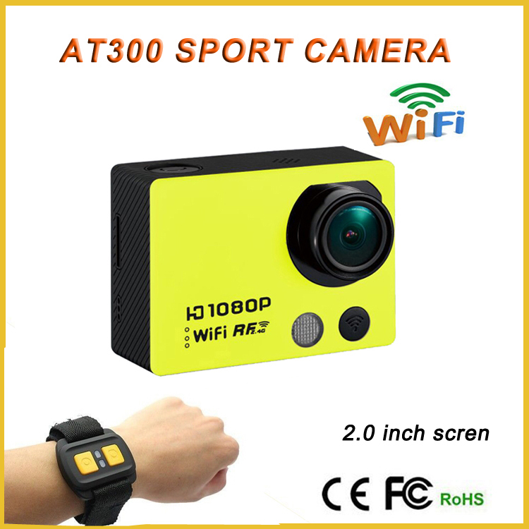 Ga pro digitale waterdichte helm camera wifi sj-6000 at300 actie camera met afstandsbediening