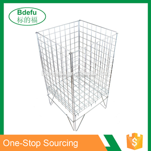Stacking wire mesh basket wire storage baskets