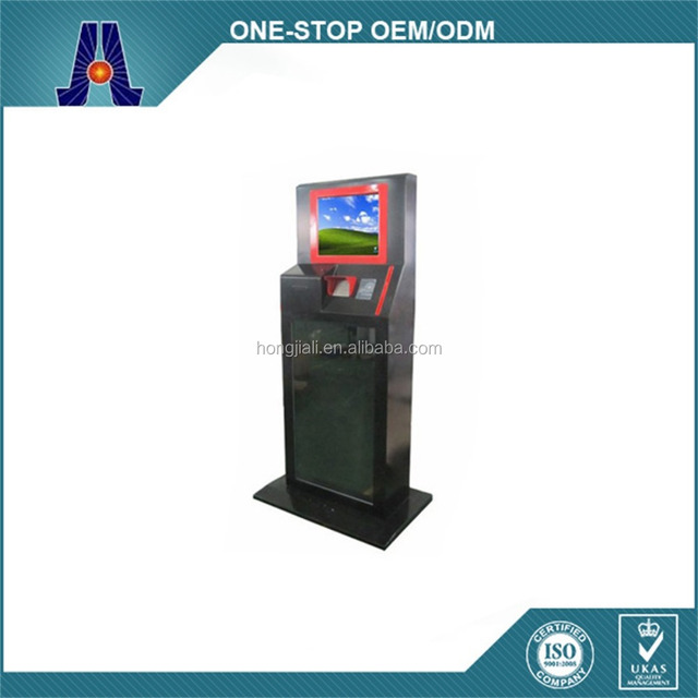 with telephone handset and webcam touch screen kiosk (HJL-1006)