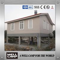 Luxury Prefabricated steel frame villa/fiberglass house and villa