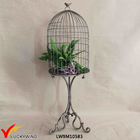 Rustic Metal Decorative Birdcage Stand Vintage