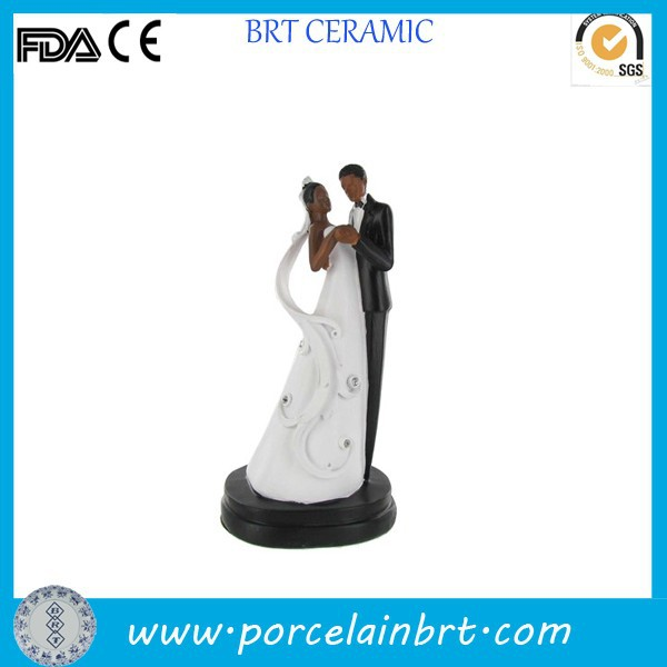 Novelty African or American style Bride and Groom Wedding Cake Toppers