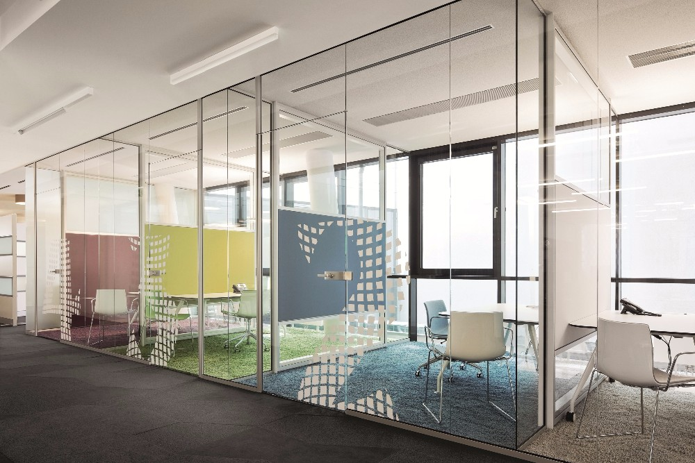 Cheap Price Combined Half Frosted Glass Office Wall Dividers