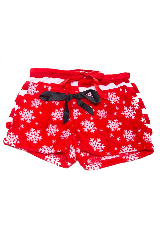 White Fashion Culture Womens Dachshund Christmas Pajama Lounge Shorts