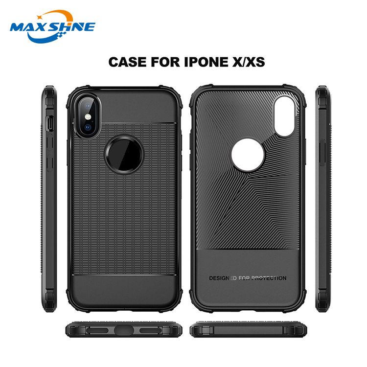 Maxshine Shockproof Anti-Scratches TPU Case For iPhoneX/XS ,Soft TPU Case For Samsung S10/S10 Plus/S10E