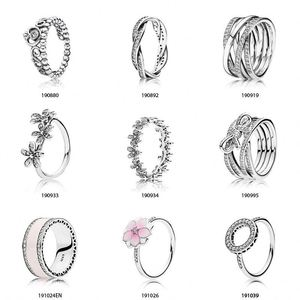 Starland Free Collocation High quality Fit Pandoras Rings Silver 925 Imitation Jewelry Hot sale