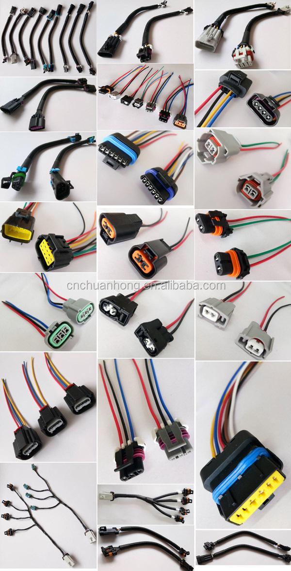 2 Way Fuel Injector Connector Wiring Plug Fit Ev1 Obd1 Lt1 Ls1 Lt6 Gm Ford  Mustang Chevrolet Pontiac - Buy 2 Way Fuel Injector Connector,Ev1 Injector