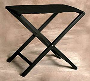 Aluminum Folding Director Style Small Footstool in Jet Black