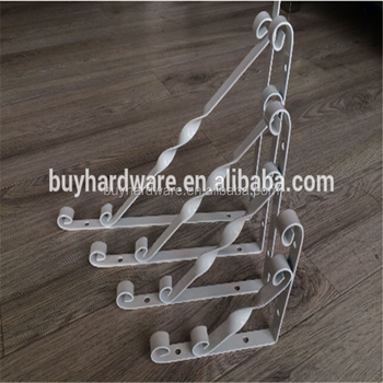 High quality wrought iron wall mounted flower hanging brackets ,Flower cast iron shelf bracket