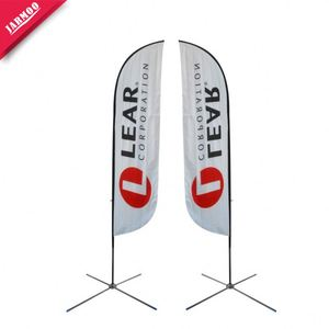 Wholesale polyester beach flag Advertising Feather Flags AT 3M