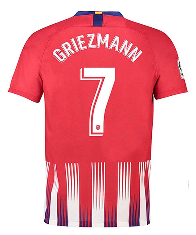 e53a947a267 Get Quotations · Ki goddess New 2018/2019 Atletico Madrid #7 Griezmann Mens  Home Soccer Jersey