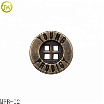 Antique brass circle  4 holes fashion metal buttons for shirts