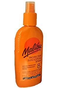 Malibu Protective Sun Lotion Spray SPF8 Medium Protection 200ml