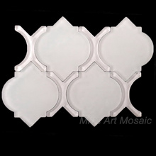 Fashion art carrara glass Water jet lantern mosaic tiles A2013