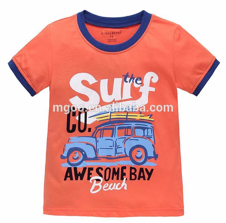 Child Clothing New Boys Kids T Shirts Design Custom Pattern Printed Cartoon For