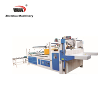 ZH / BZX Manual Feeding Automatic Gluing Machine, Semi Automatic Folder Gluer For corrugated box manufacturer