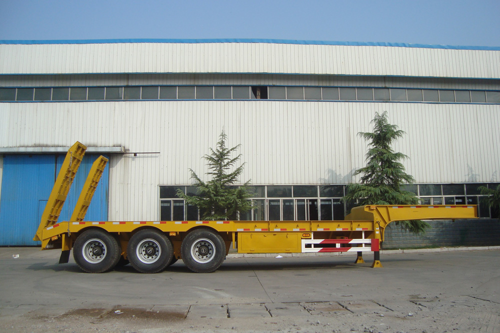 Gooseneck Type 3 Axles  60 Tons Lowbed Semi Trailer