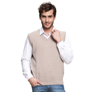 Mens Winter customized knitwear sweaters pure cashmere top vest pullover