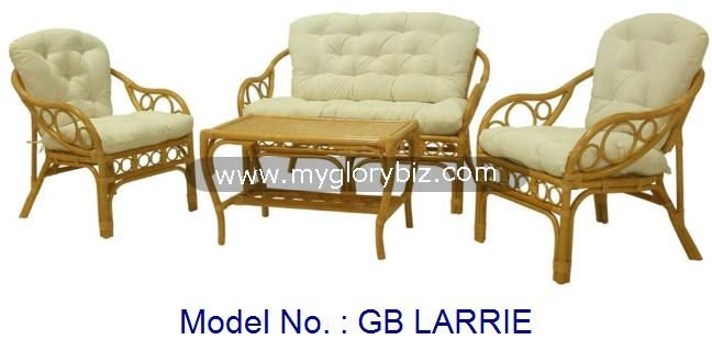 Unique Design Living Sofa Set Comfortable Rattan Furniture Series With Cushion Armchair In Modern Look For Home Use Room