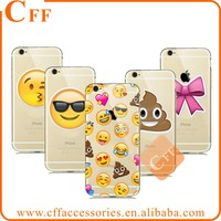 Cute Funny emoji phone Case Coque For iPhone 5 5s 6 6s 6/s plus Clear Silicone Cellphone Cases Cover Facial Emotion Collection