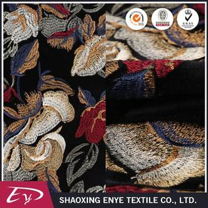 Good price of oem eco-friendly decorative colorful flower embroidery fabric in dubai