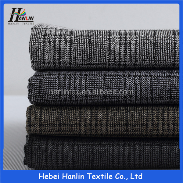 70%polyester 30%rayon woven check suits fabric hopsack tr fabric