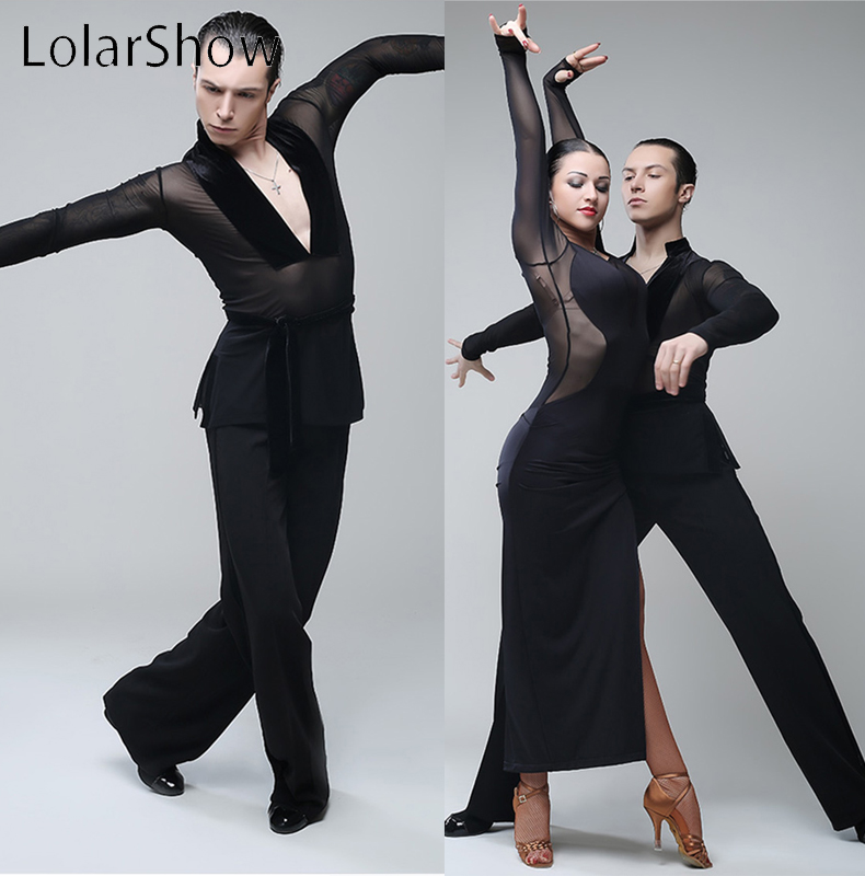 Modern Men's Latin Shirt Dancing Shirt Latin Competition Dance Dress For Men