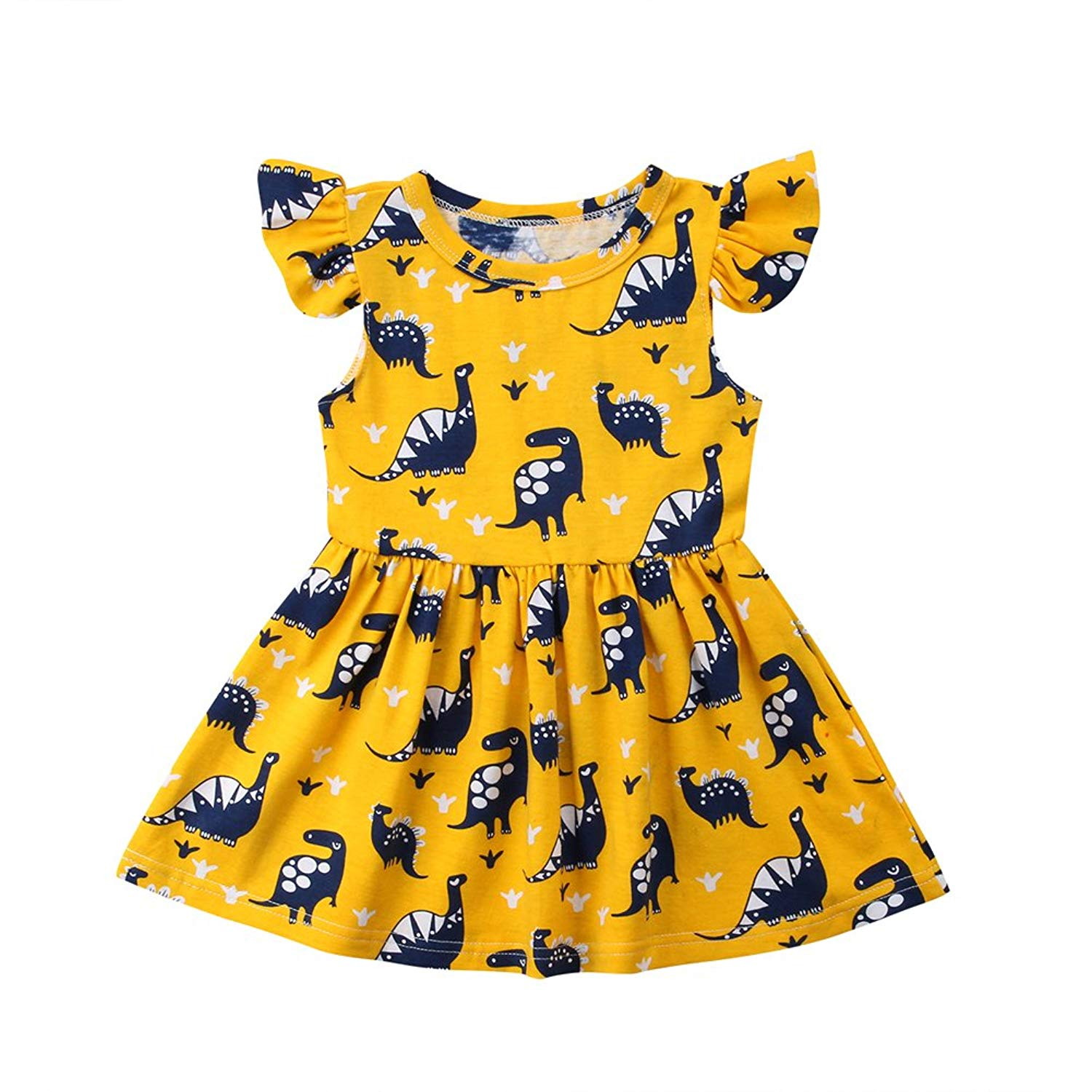 WOCACHI Toddler Baby Dresses Baby Girls Candy Color Long Sleeve Solid Princess Casual Toddler Kids Dress
