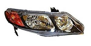 06 - 11 Honda Civic (4 Door Sedan Only) Passenger Headlight Headlamp with Amber Park Lens