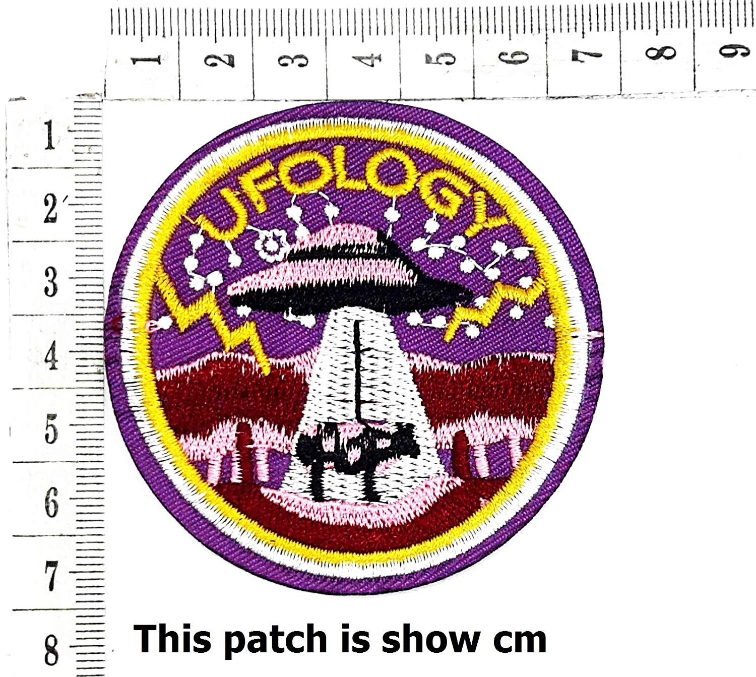 fd79a1670 Get Quotations · UFO LOGY Cow Animals Outer Space Flying Saucer Cartoon  Chidren Kids Embroidren Iron Patch/Logo