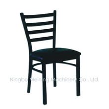 Cheap Commercial Restaurant Chairs With High Density Vinyl Seat Metal Dining Chairs 4 Slat Back Chairs