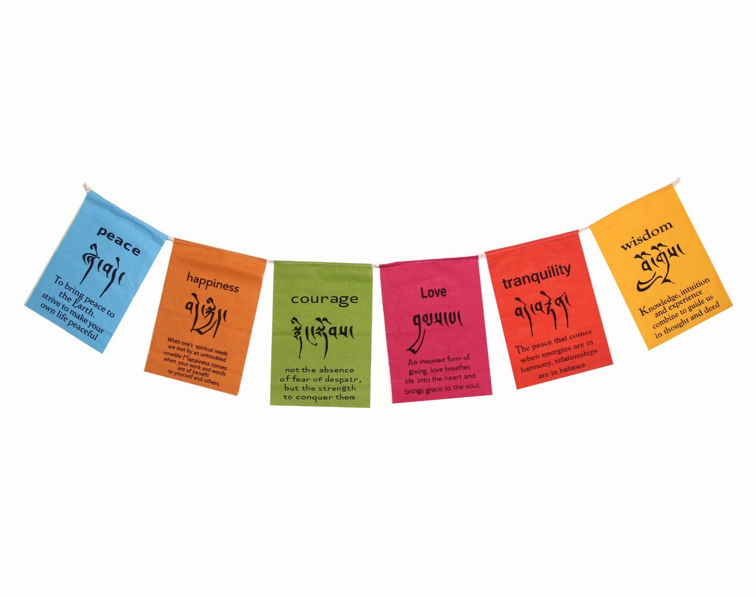 Buy Dharmaobjects Handmade Tibetan Affirmation Prayer Flags Peace