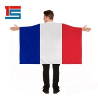 Customized Polyester France French World Cup Football Cape Body Flags