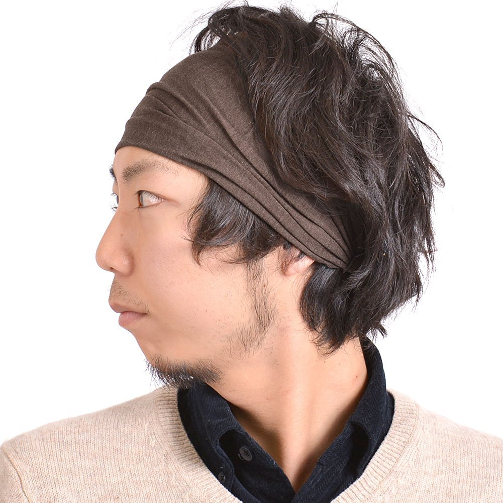 Casualbox mens Head cover Band Bandana Stretch Hair Style Japanese 1cba698187b