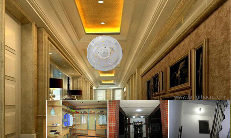 Indoor Residential Light Round Led Pir Motion Sensor Ceiling Light 5w Buy Ceiling Light 5w