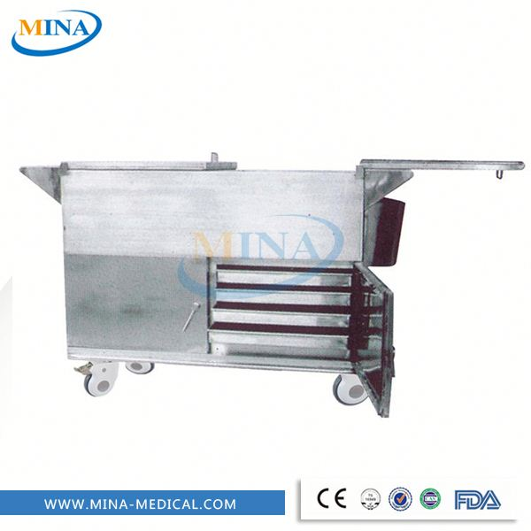 MINA-FC005 hospital mobile food trolley food warm cart for hospital moible